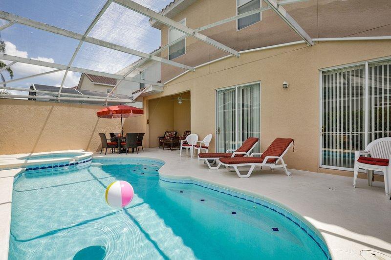 piscina privada con gas