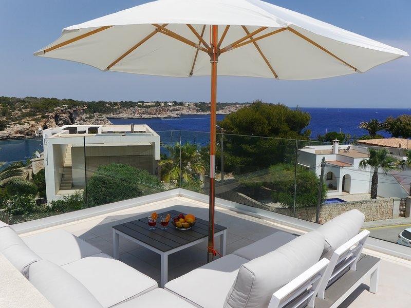 Casa Poggibonsi al Mar, Cala Llombards - Pool, Meerblick, 100 m zum Sandstrand, location de vacances à Santanyi