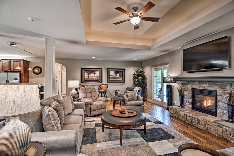 This home is located in the Branson Hills Golf Club and sleeps 10.