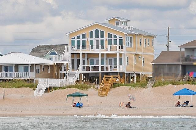 S. Shore Drive 1328 Oceanfront! | Private Pool, Hot Tub, Elevator, Game Equipmen, holiday rental in Surf City