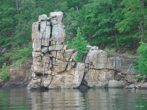 Chimney Rock at Lake Greeson.