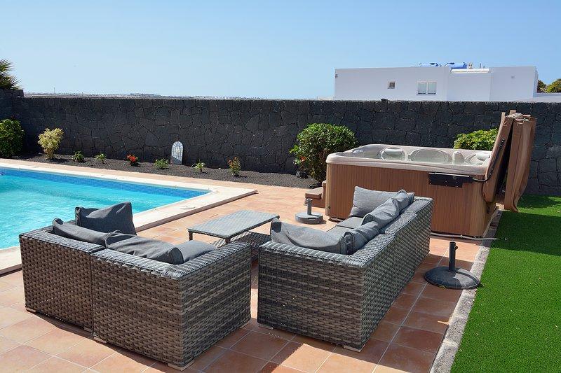Private villa with hot tub