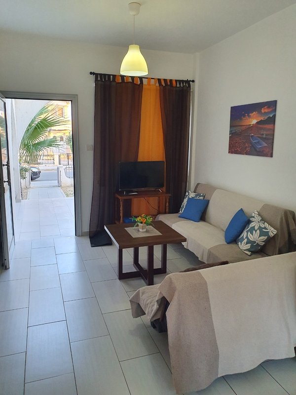 Living room with exit in terrace
