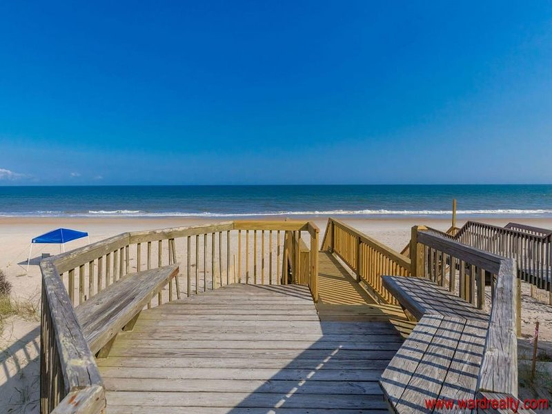 Front Sun Deck by Private Beach Access