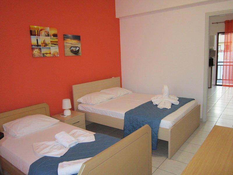 ECONOMIC STUDIO IN THE HEART OF CRETE B1, holiday rental in Ammoudara