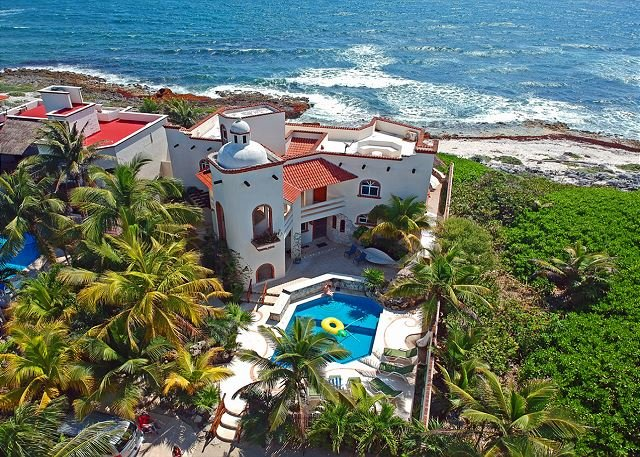 Villa Cascadas from the air