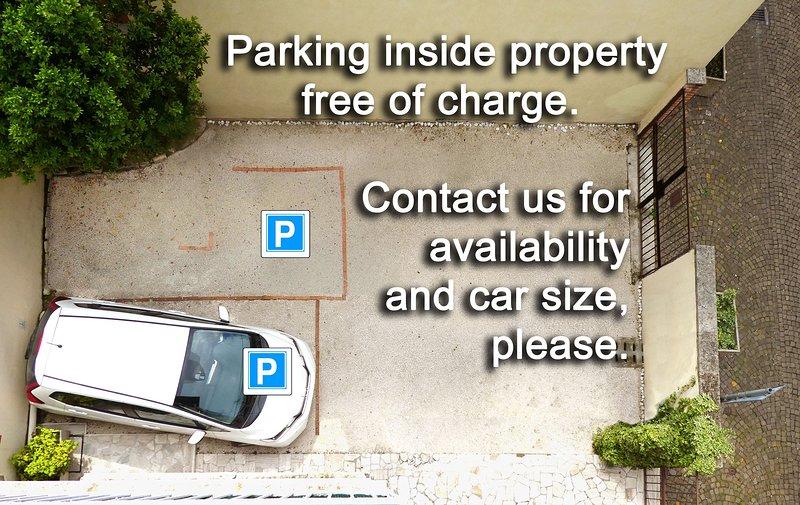 Estacionamento dentro da propriedade, entre em contato conosco para disponibilidade e tamanho do carro.