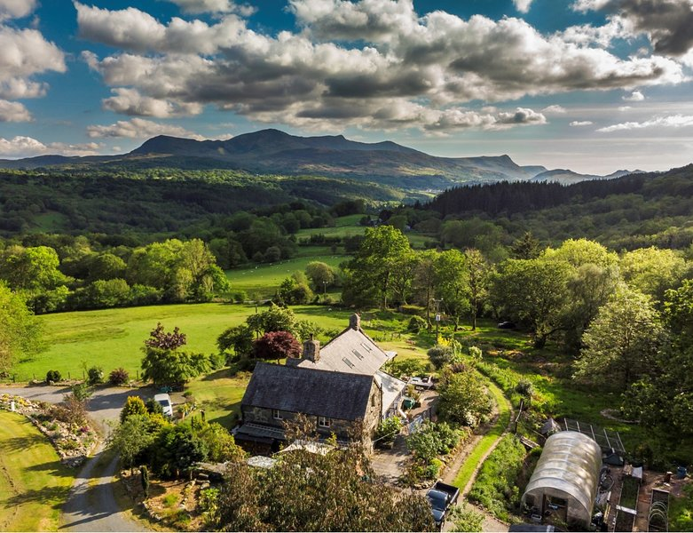 view above chalet towards cader idris