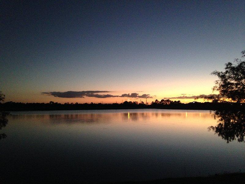 Lovely sunset at resort