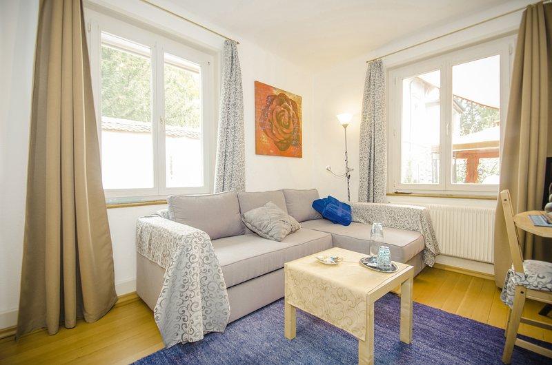 4 Zimmer Wohnung im Herzen Dornachs am Klostergarten 2min. Bhf 10 min. bis Basel, vacation rental in Moutier