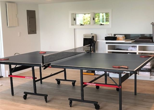 The ping-pong table adds great entertainment!