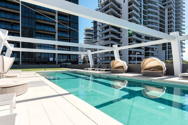 Beach or Pool with this apartment you have the option