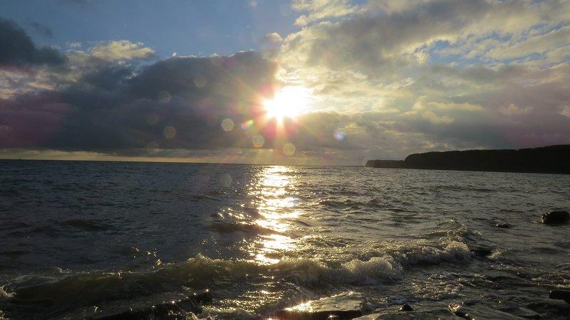 Baia di Kimmeridge al tramonto