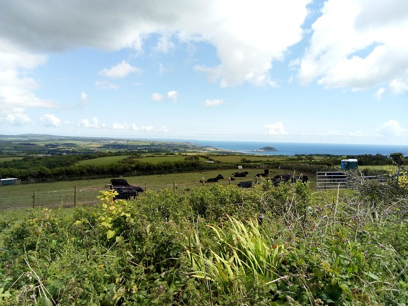 Beautiful countryside overlooking Mounts Bay.