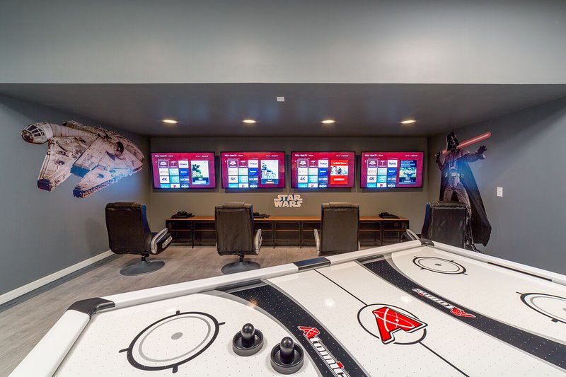The themed game room is the perfect place to get your game on