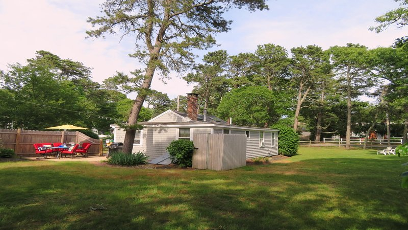 Spacious Backyard with outdoor shower - 130 Belmont Road West Harwich Cape Cod New England Vacation Rentals