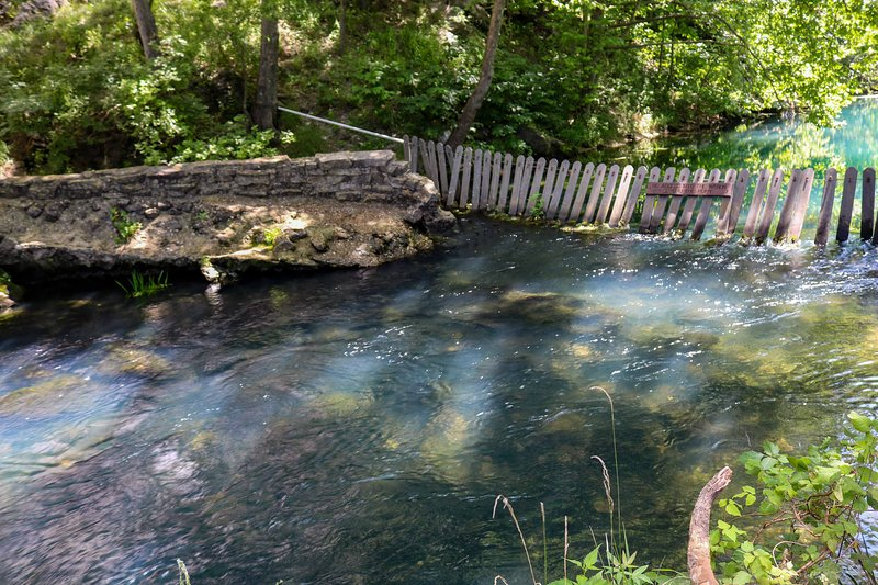 Cool off in the natural springs nearby!