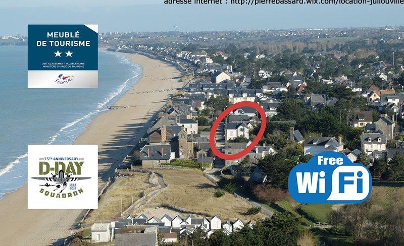 BAIE MONT ST MICHEL .50 M de la plage . VILLA Rdc 7 Pers . TT Confort . 2 **., holiday rental in Champeaux