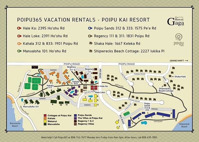 Carte du Poipu Kai Resort