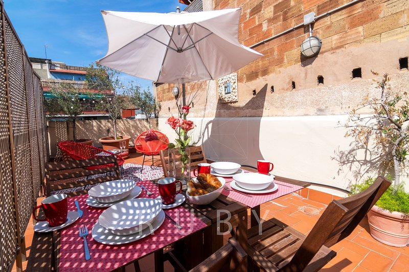 Terrace oasis in the center of Barcelona, vacation rental in Barcelona