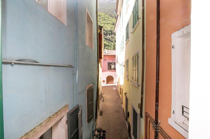 La rue de la résidence au coeur de la vieille ville