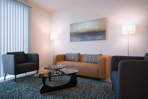 Spectacular Spectrum Suites - Luxury One Bedroom Furnished Apartment - Modern Interior Design