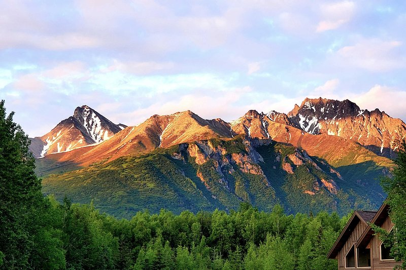 Admire the breathtaking scenery from this Alaska property.