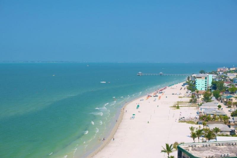 Fort Myers Beach is famous for its white sand and turquoise calm waters!