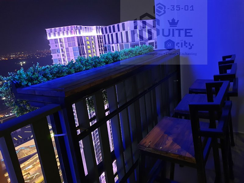 Enjoy the full experience of the balcony view with the sky bar