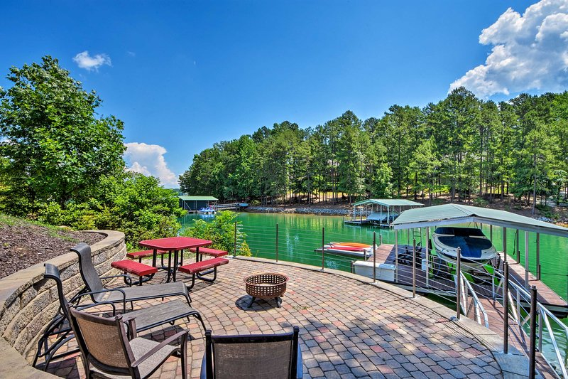 Admire views of Lake Keowee from this 3-bedroom, 3-bath vacation rental house.