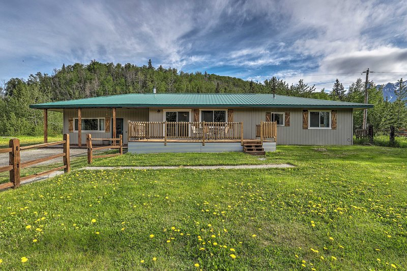 Get away to the Last Frontier and stay at this Palmer vacation rental house!