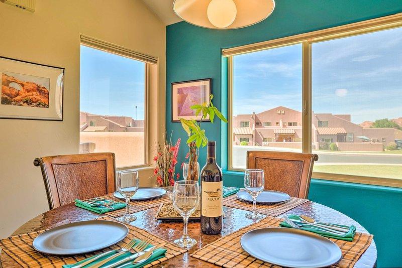 ¡Reserve su próxima estadía en Moab para este lujoso y moderno alquiler de vacaciones!