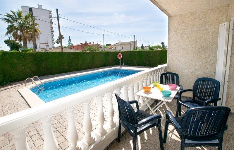 Enjoy breakfast on the terrace