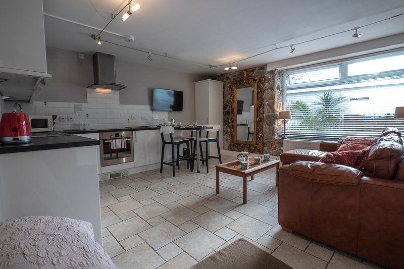 The Old Salthouse, Barnaloft with double bed and sofa bed in one room, holiday rental in St Ives