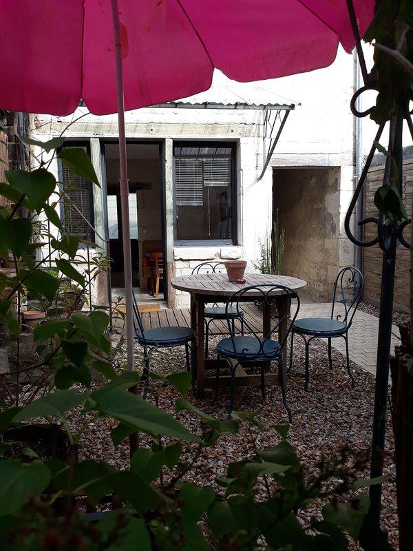 mesa de jardín