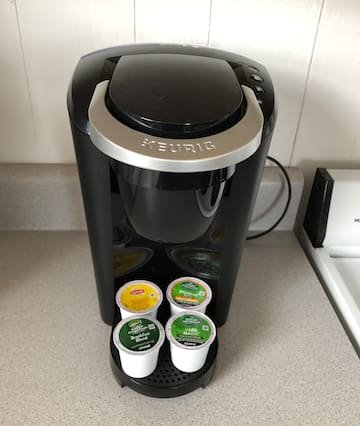 Coffee!  Each room includes a coffee maker and starter pods!