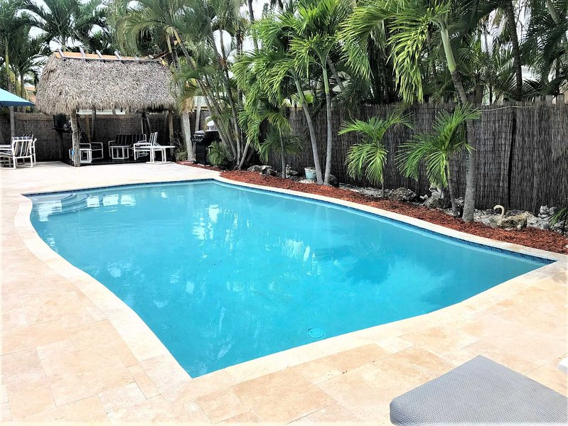 New pool and expansive deck is the perfect family vacation spot.