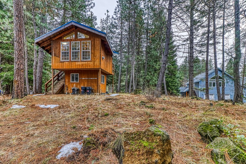 Dog-friendly cabin in the woods w/ a kitchenette & stunning mountain views!, casa vacanza a Trout Lake