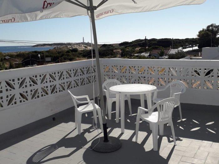 house with terrace sea views, holiday rental in Los Canos de Meca