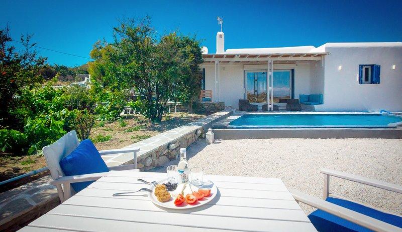 Mykonian Villa Tropicalia, vacation rental in Paradise Beach
