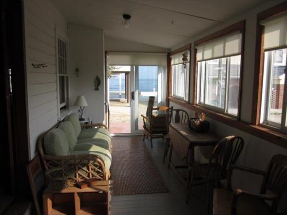 Sun porch with ocean view