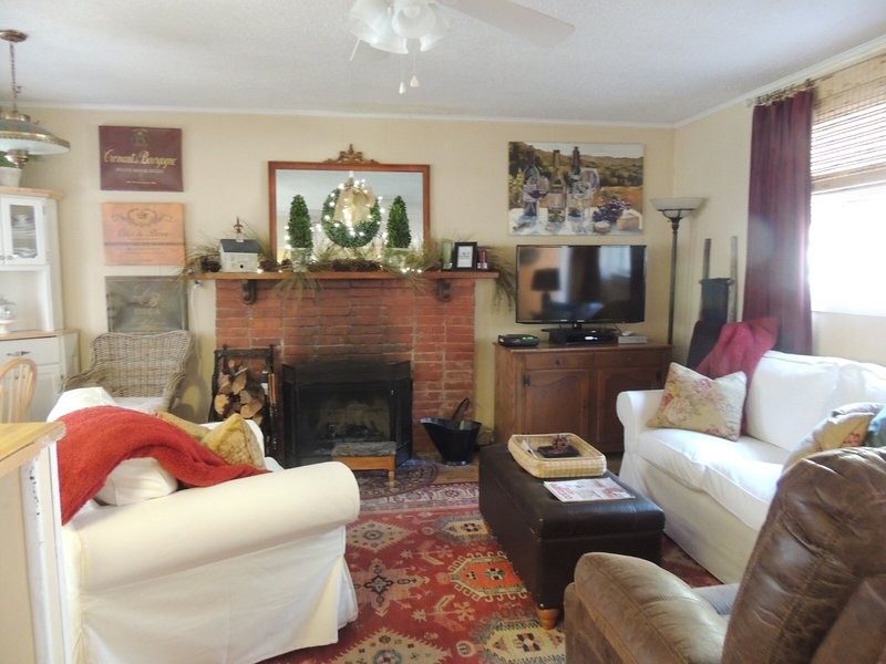 The living room is comfortable and cozy.  Seating for 4 adults.