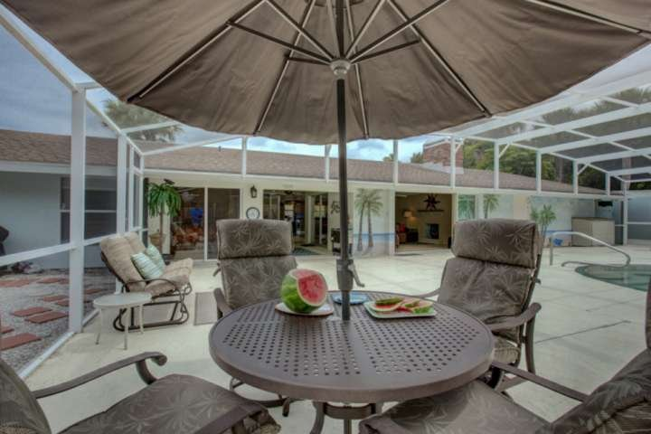 Come stay in this spectacular home on Siesta Key with heated saltwater pool.  You won't be able to get the kids to leave!