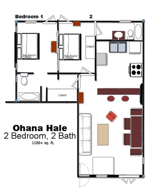 Plano de planta de Ohana Hale