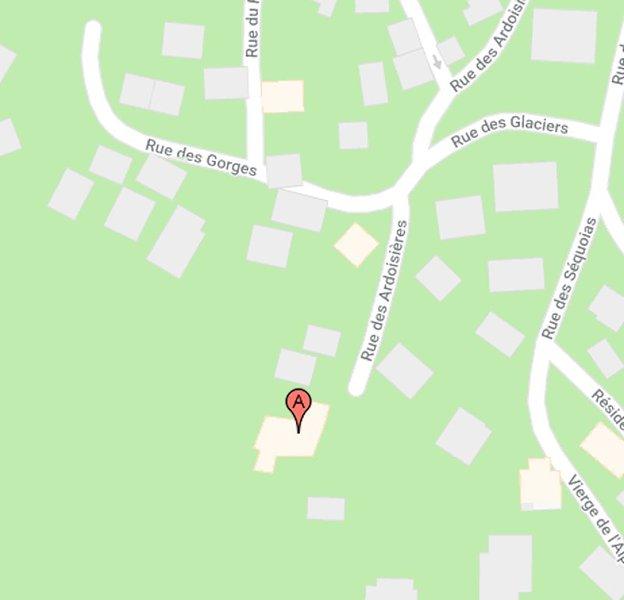 De geschatte locatie van het chalet.