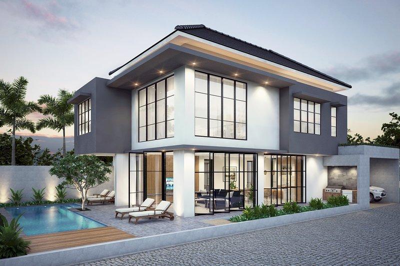 VILLA VERDE· Luxury & Indulgence - close to FINNS BEACH CLUB.  Sleep 10 pax, alquiler de vacaciones en Tibubeneng