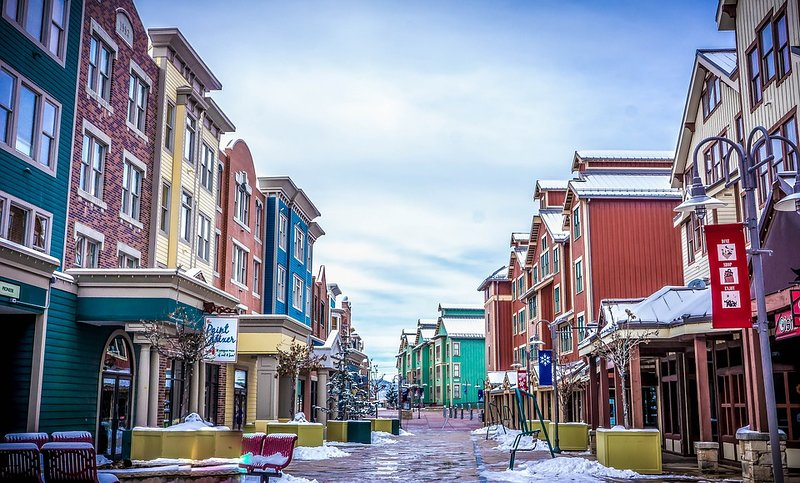 Park City main street is just a short drive from the home.