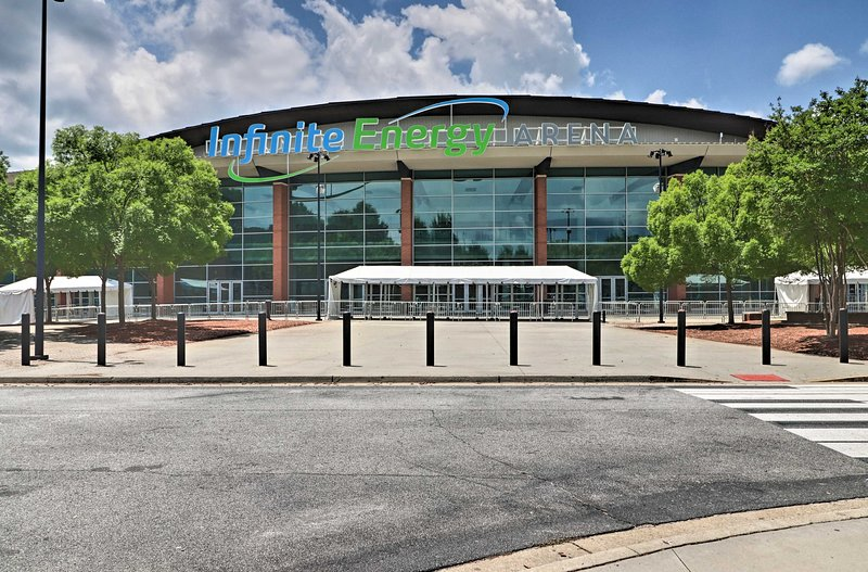 In town for an event? Infinite Energy Arena is nearby.