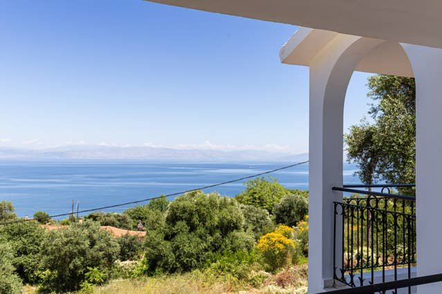 Ionian Blue Sea View Maisonette 1, holiday rental in Dafnata