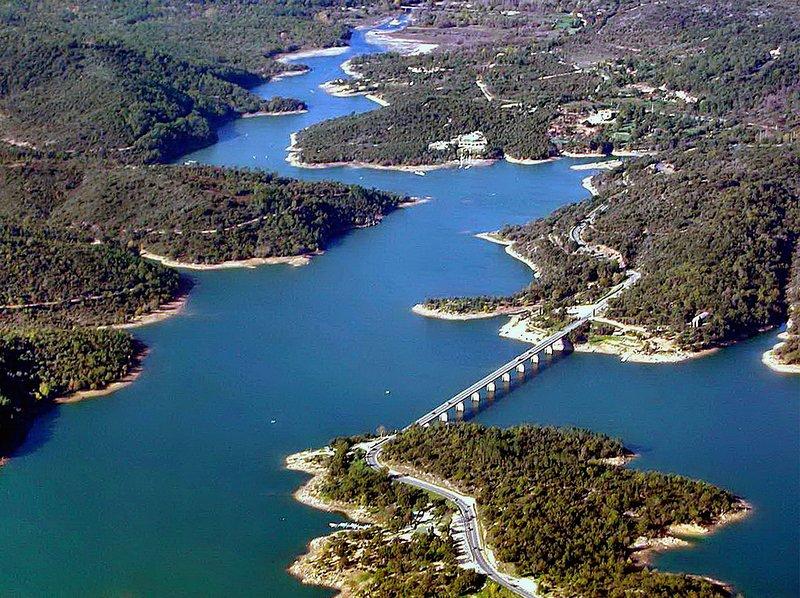 Lake St Cassien op 10 Km